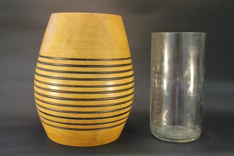 Vase aus Birne mit Glaseinsatz b